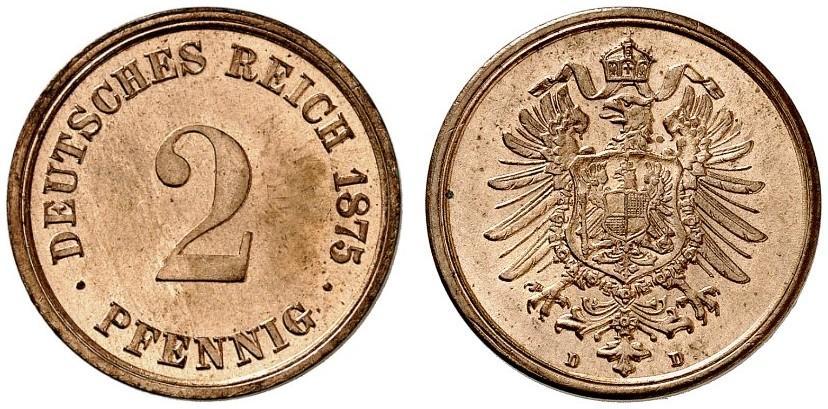 DE 2 Pfennig 1875 D