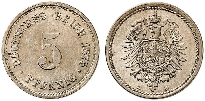 DE 5 Pfennig 1875 D