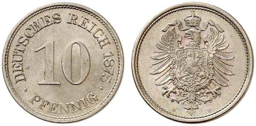 DE 10 Pfennig 1875 E