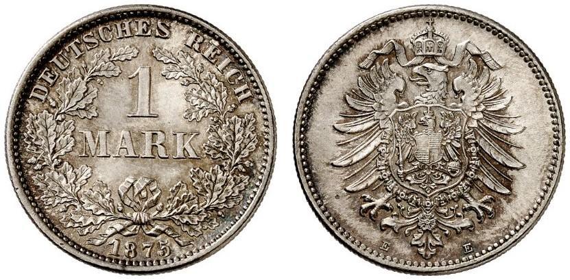 DE 1 Mark 1875 E