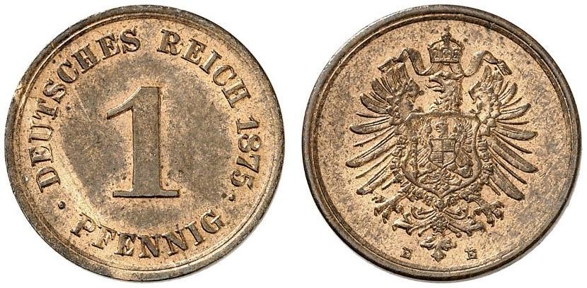 DE 1 Pfennig 1875 E