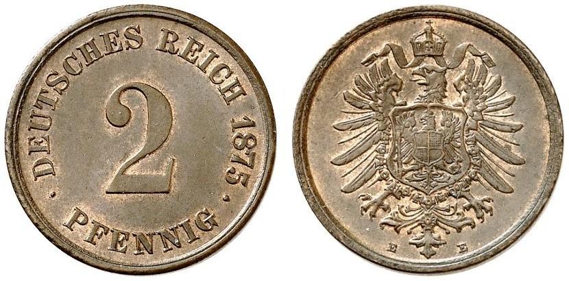 DE 2 Pfennig 1875 E