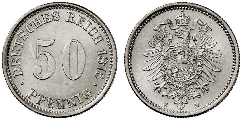 DE 50 Pfennig 1875 E