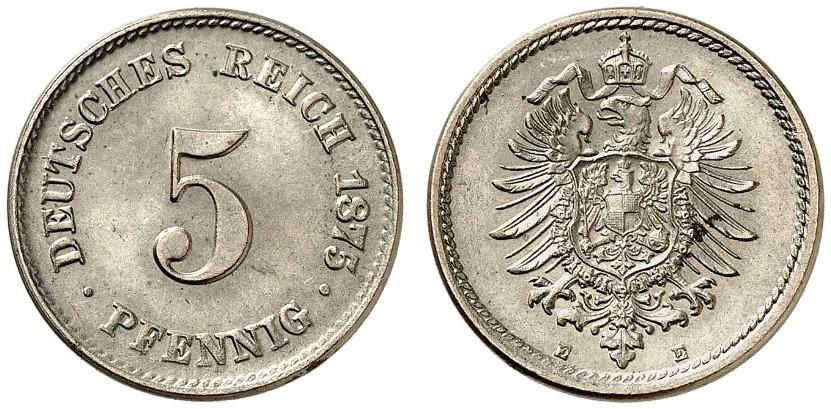 DE 5 Pfennig 1875 E