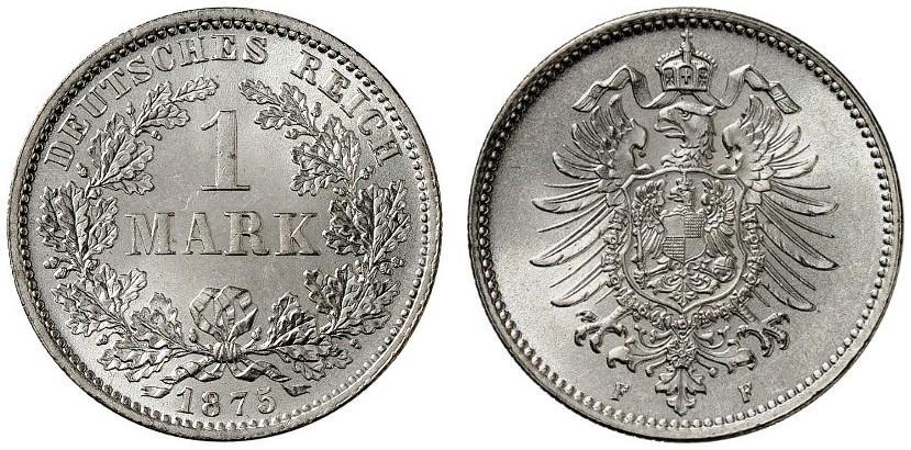 DE 1 Mark 1875 F