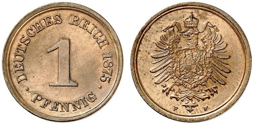 DE 1 Pfennig 1875 F