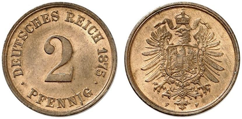 DE 2 Pfennig 1875 F