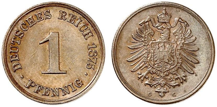 DE 1 Pfennig 1875 G