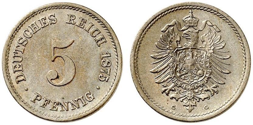 DE 5 Pfennig 1875 G