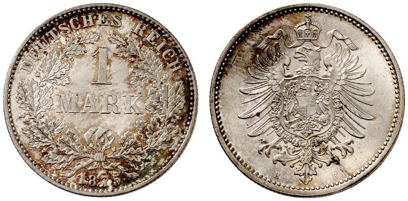 DE 1 Mark 1875 H
