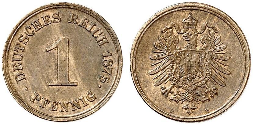 DE 1 Pfennig 1875 H