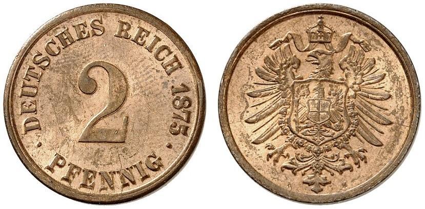 DE 2 Pfennig 1875 H