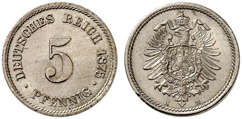 DE 5 Pfennig 1875 H