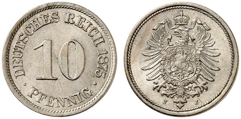 DE 10 Pfennig 1875 J