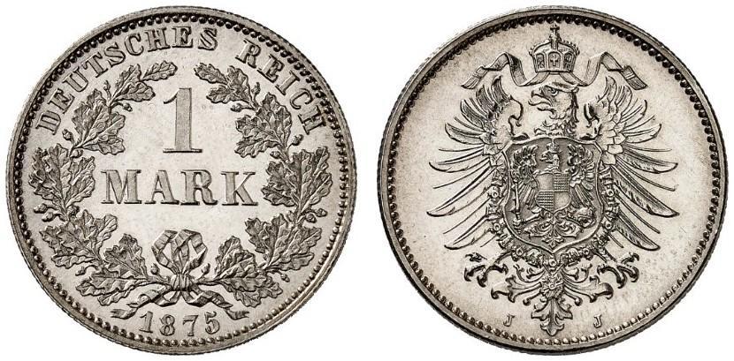 DE 1 Mark 1875 J