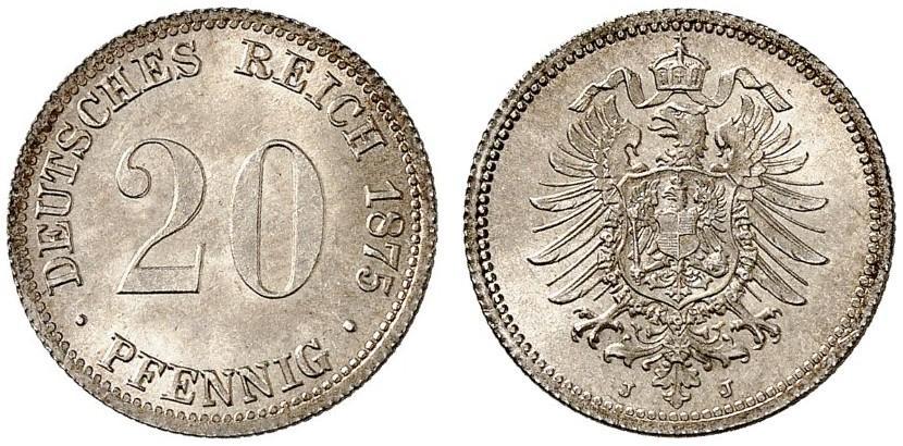 DE 20 Pfennig 1875 J