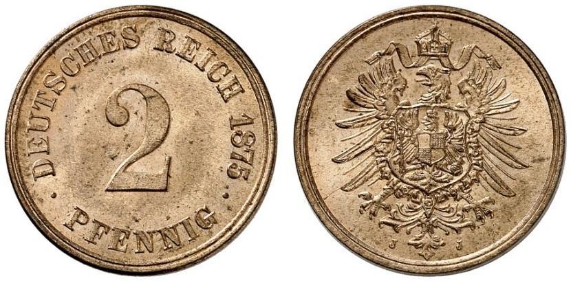 DE 2 Pfennig 1875 J