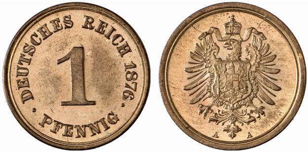 DE 1 Pfennig 1876 A