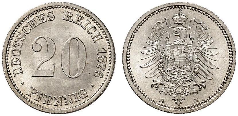 DE 20 Pfennig 1876 A