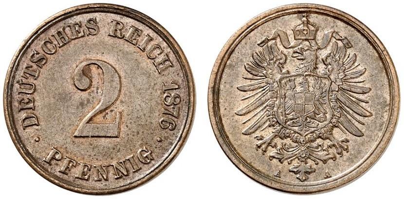 DE 2 Pfennig 1876 A