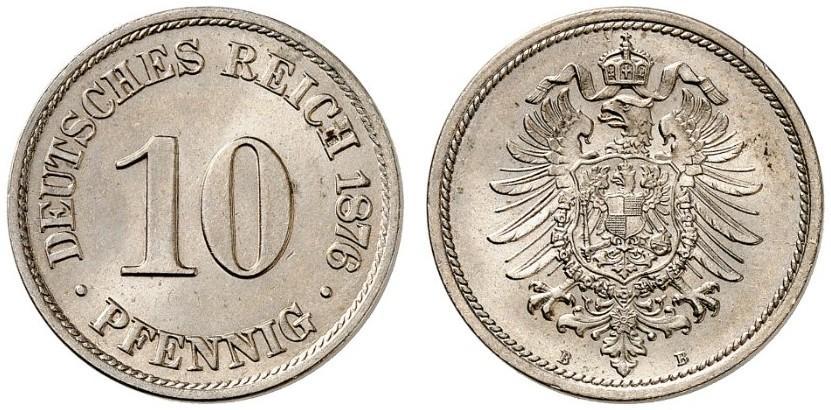 DE 10 Pfennig 1876 B