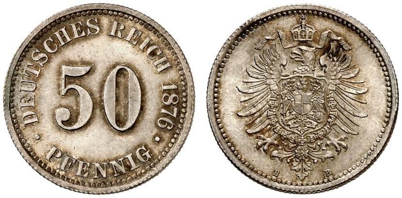 DE 50 Pfennig 1876 B