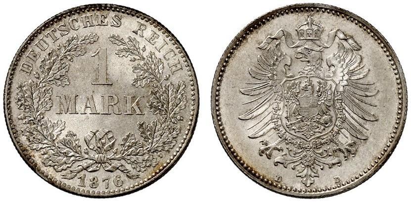 DE 1 Mark 1876 D