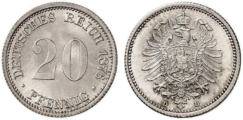 DE 20 Pfennig 1876 D