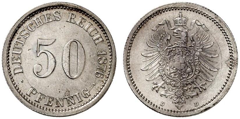 DE 50 Pfennig 1876 D