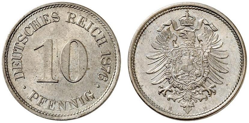 DE 10 Pfennig 1876 E