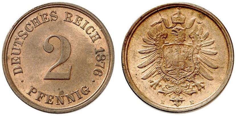 DE 2 Pfennig 1876 E