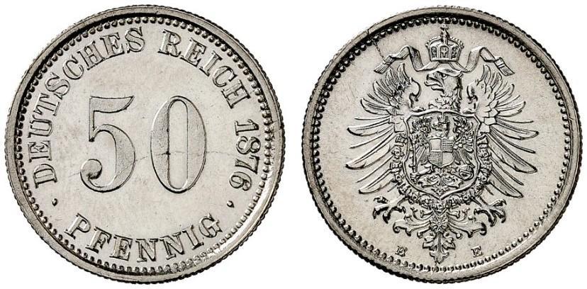 DE 50 Pfennig 1876 E