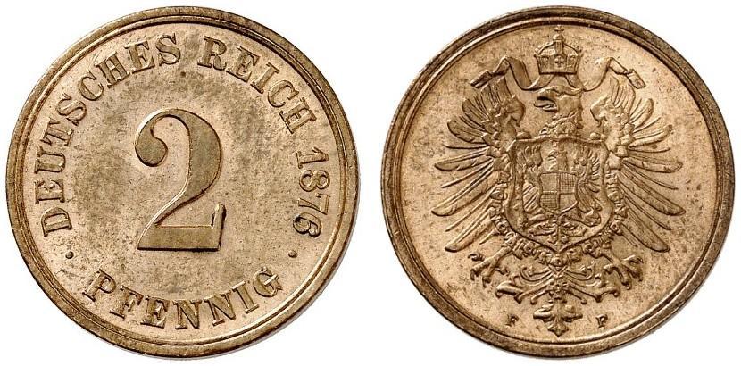 DE 2 Pfennig 1876 F