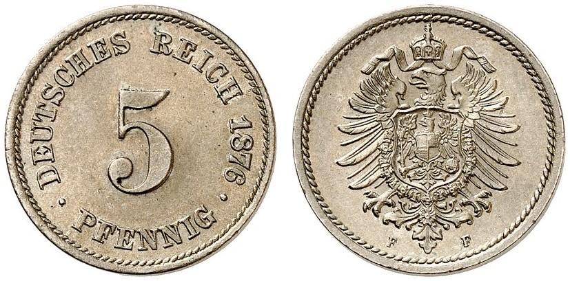DE 5 Pfennig 1876 F