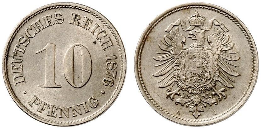 DE 10 Pfennig 1876 G