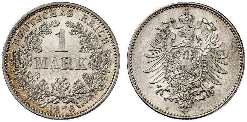DE 1 Mark 1876 G
