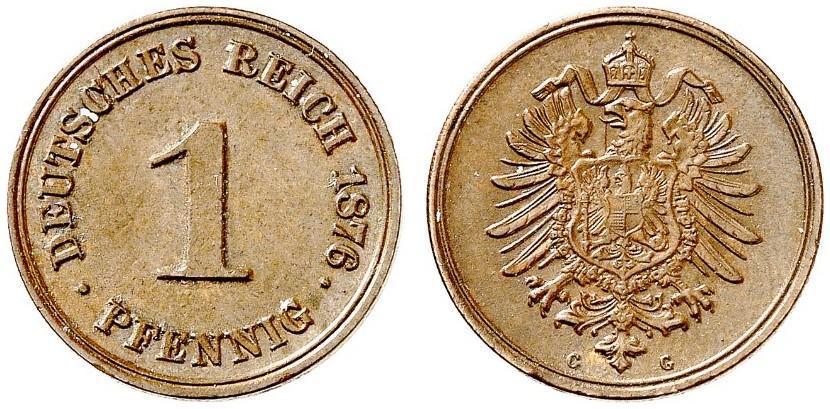 DE 1 Pfennig 1876 G