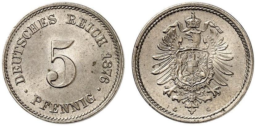 DE 5 Pfennig 1876 G