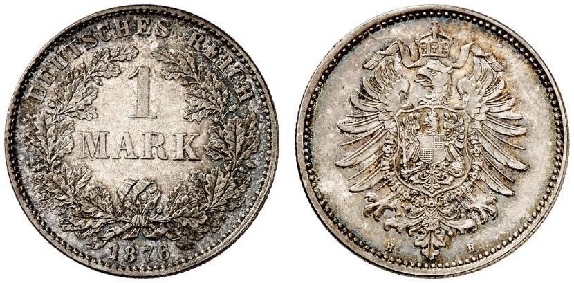 DE 1 Mark 1876 H
