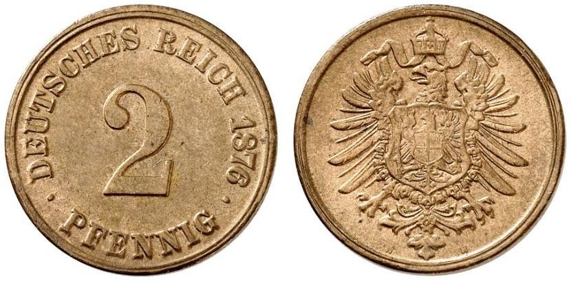 DE 2 Pfennig 1876 H