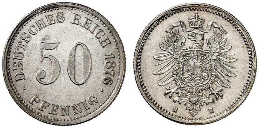 DE 50 Pfennig 1876 H