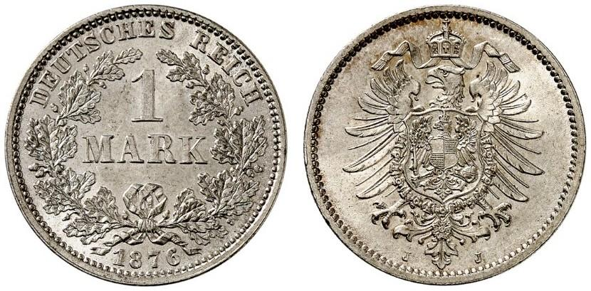 DE 1 Mark 1876 J