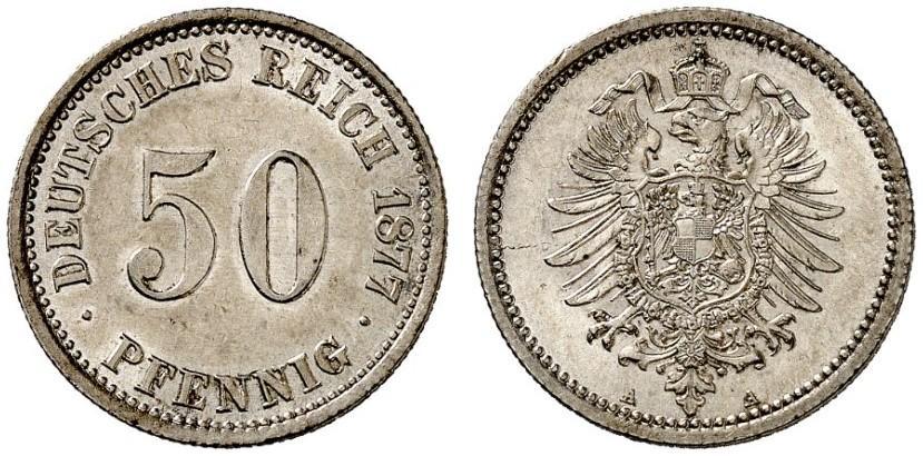 DE 50 Pfennig 1877 A