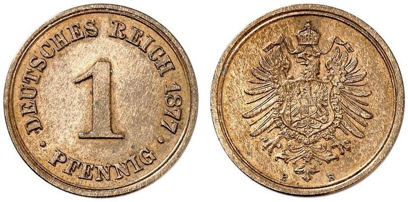 DE 1 Pfennig 1877 B