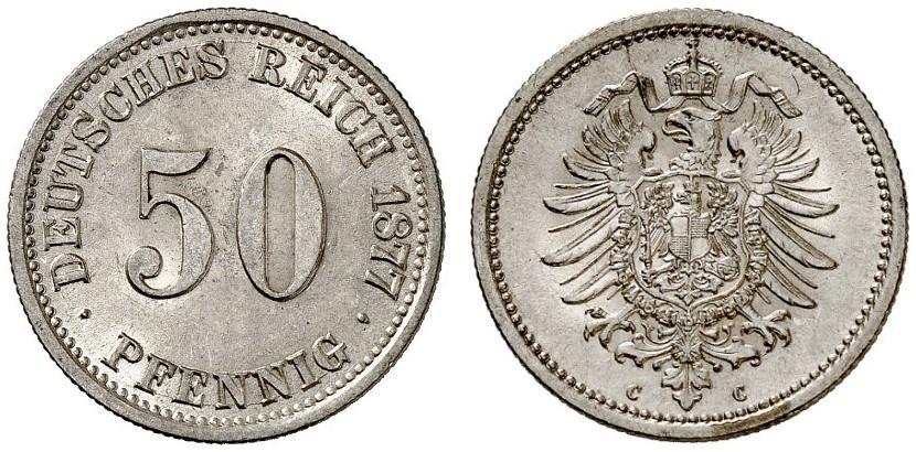 DE 50 Pfennig 1877 C