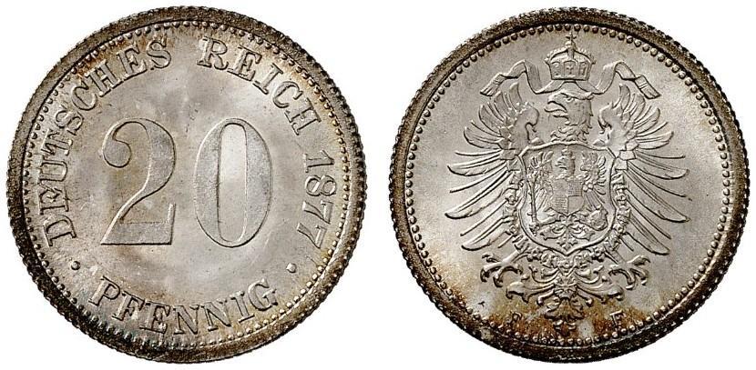 DE 20 Pfennig 1877 F