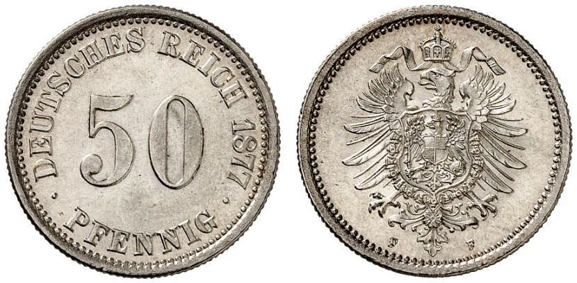DE 50 Pfennig 1877 F