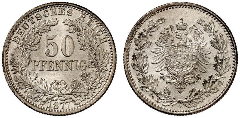 DE 50 Pfennig 1877 G