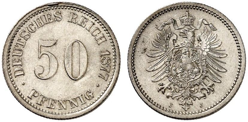 DE 50 Pfennig 1877 J
