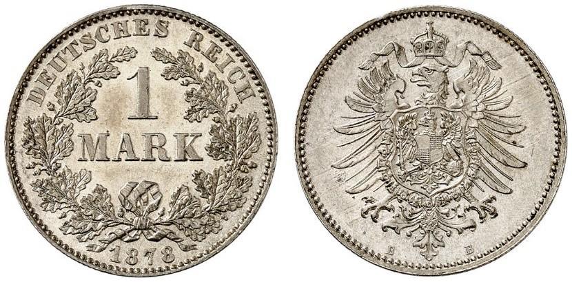 DE 1 Mark 1878 B